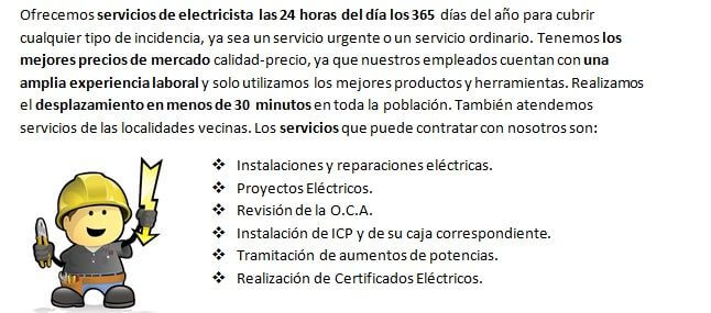 Electricista 24 horas Sant Aniol de Finestres siempre disponibles